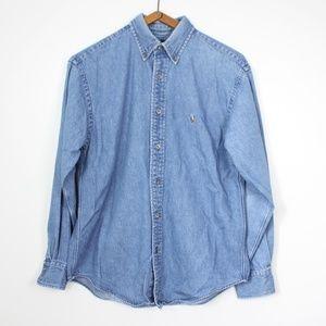 Vintage Ralph Lauren Jean Button Down Shirt Sz 6